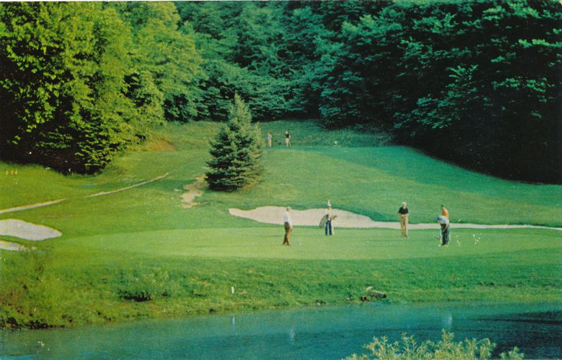 Hot Springs, Virginia - The Homestead Resort 17th Green and 18th Tee Golf Course
