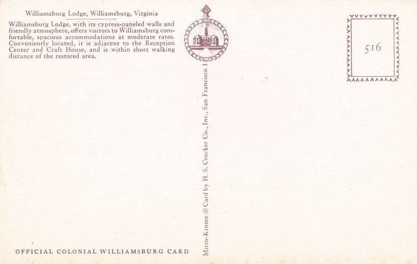 Williamsburg, Virginia - The Williamsburg Lodge Hotel