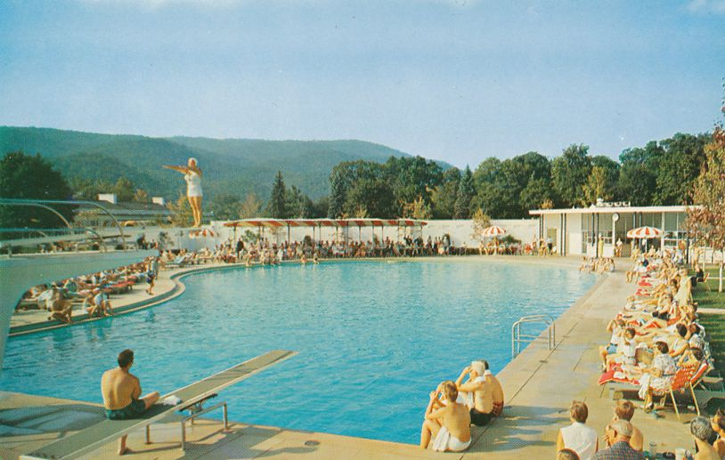 White Sulphur Springs, West Virginia - Greenbrier Resort Swimming and Diving