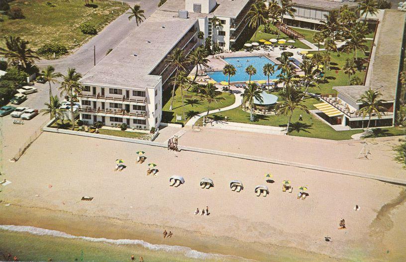 Fort Lauderdale, Florida - Aerial View Beach Club Hotel