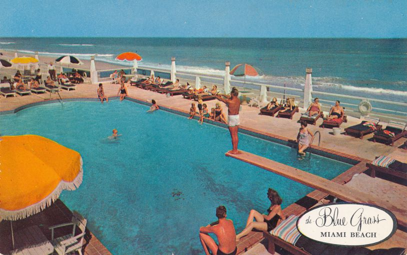 Miami Beach, Florida - Swimming and Diving at Blue Grass Hotel