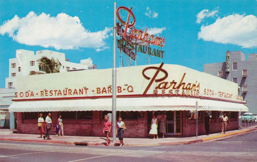 Miami Beach, Florida - Parham's Restaurant - Bar-Be-Cued Chicken and Spare Ribs