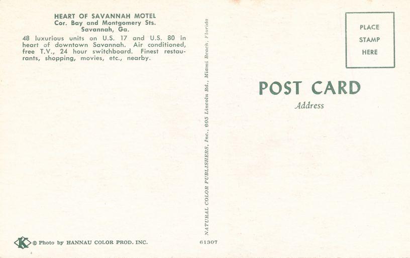 Savannah, Georgia - The Heart of Savannah Motel