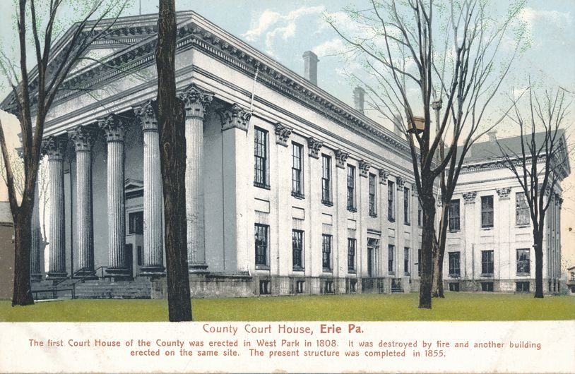 Erie, Pennsylvania - County Court House - Undivided Back