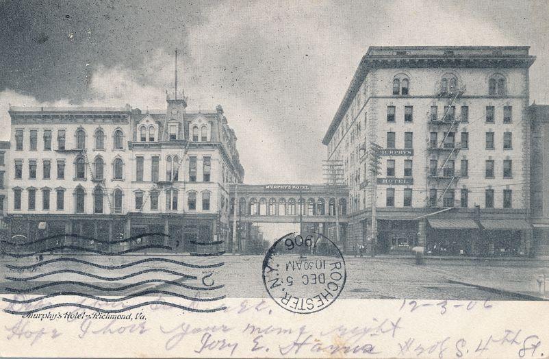 Richmond, Virginia - Murphy's Hotel - pm 1906 - Undivided Back