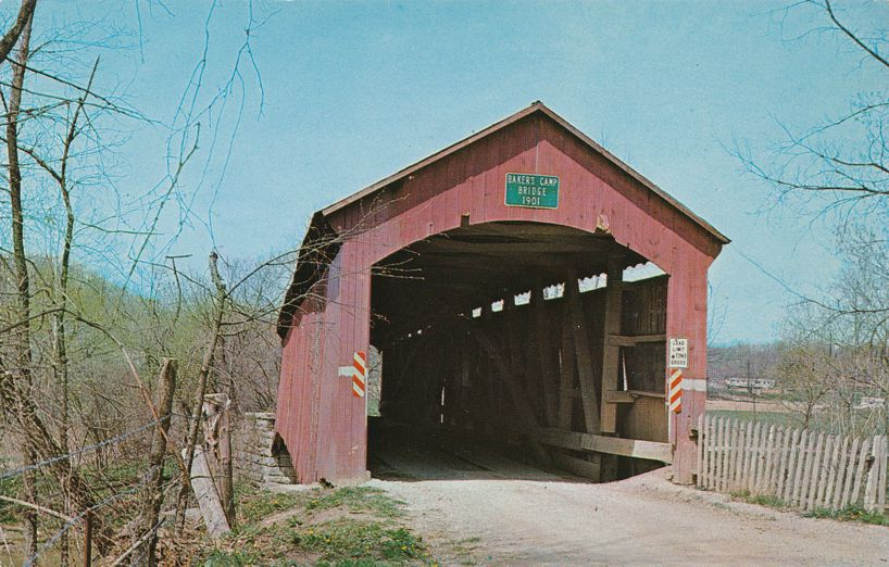 Bainbridge, Putnam County, Indiana - Hillis or Bakers Covered Bridge