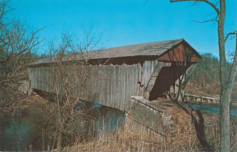 Brownsville Covered Bridge, Union County, Indiana over Whitewater River