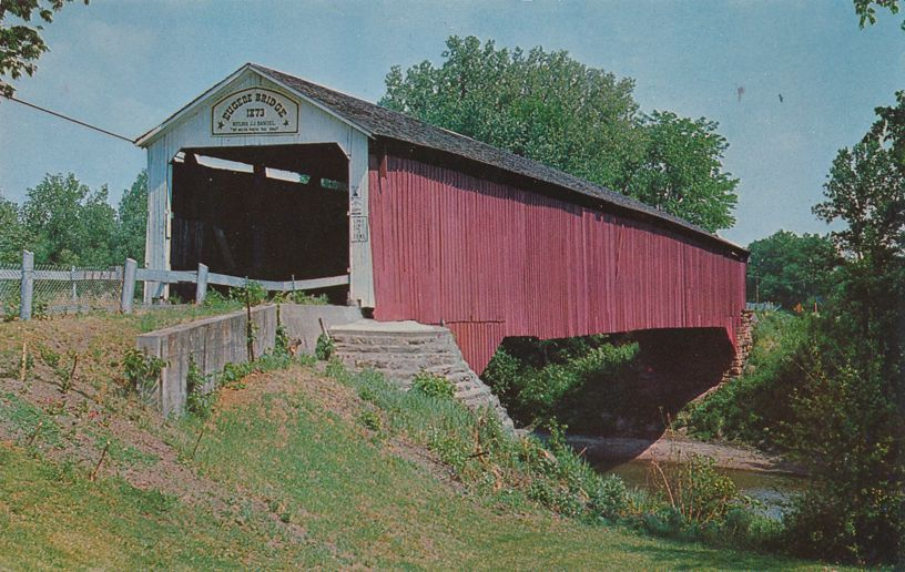 Eugene Covered Bridge north of Cayuga, Indiana over Vermillion River