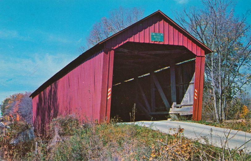 Clinton Falls, Putnam County, Indiana - Edna Collins Covered Bridge