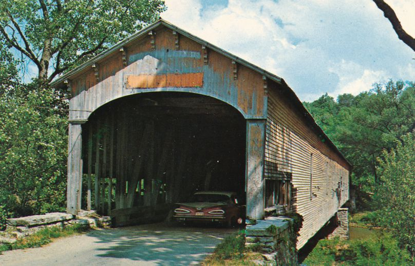 Dunlapsville, Indiana - Covered Bridge over East Fork Whitewater River