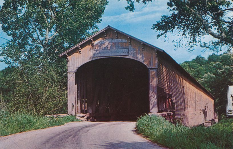 Dunlapsville, Indiana - First Covered Bridge built by Archibald Kennedy