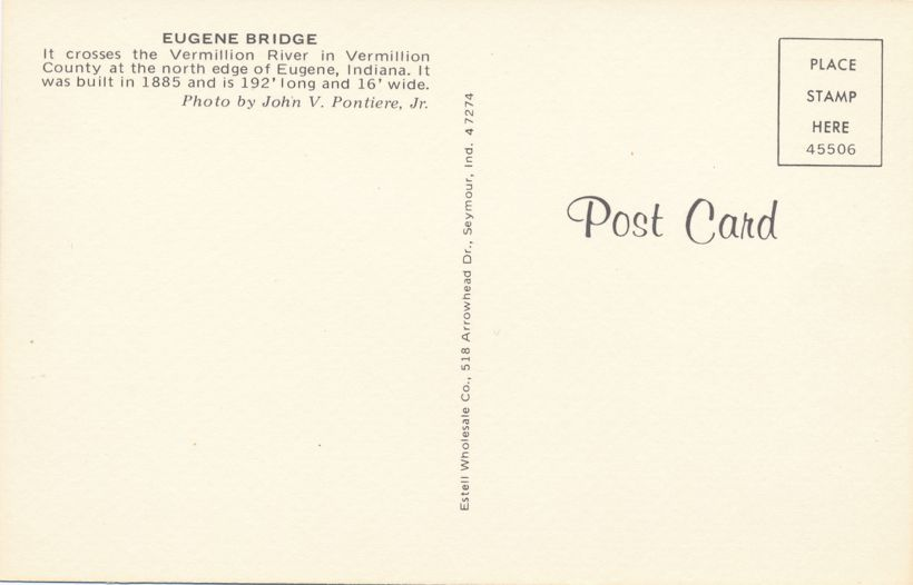 Eugene Covered Bridge, Vermillion County, Indiana