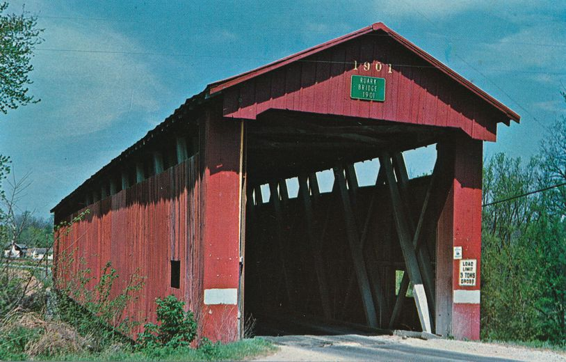 Greencastle, Putnam County, Indiana - Ruark Covered Bridge