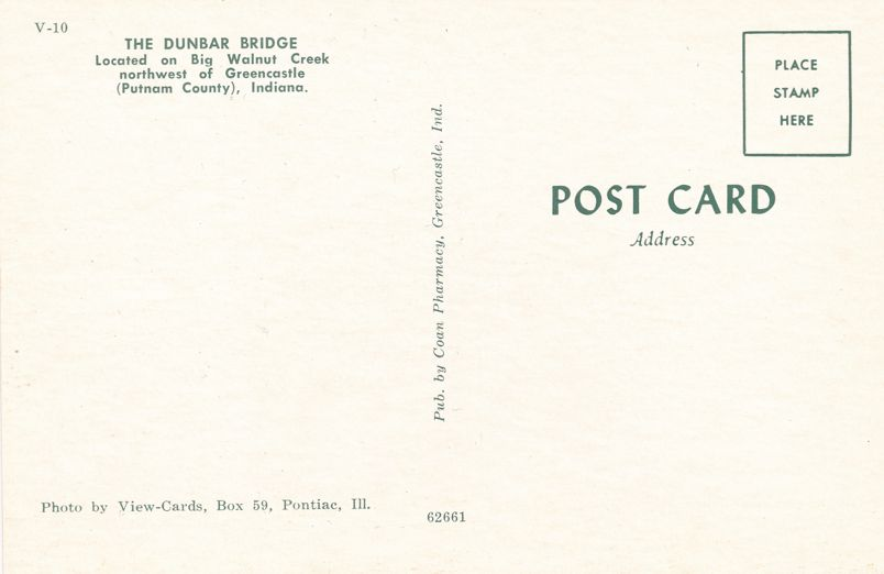Dunbar Covered Bridge over Big Walnut Creek - Greencastle, Indiana