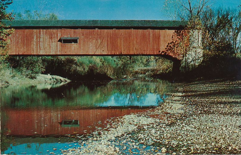 Old Covered Bridge West of Greencastle, Putnam County, Indiana