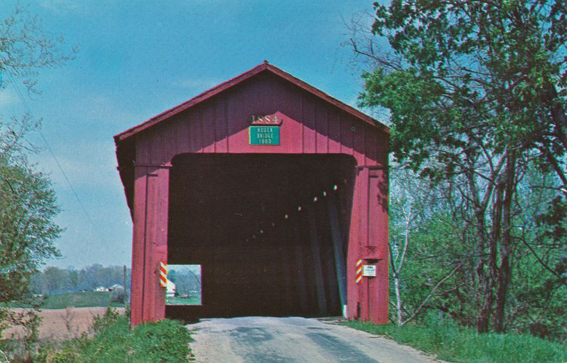 Houck Covered Bridge over Big Walnut Creek near Greencastle, Indiana