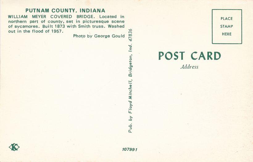 Putnam County, Indiana - William Meyer Covered Bridge