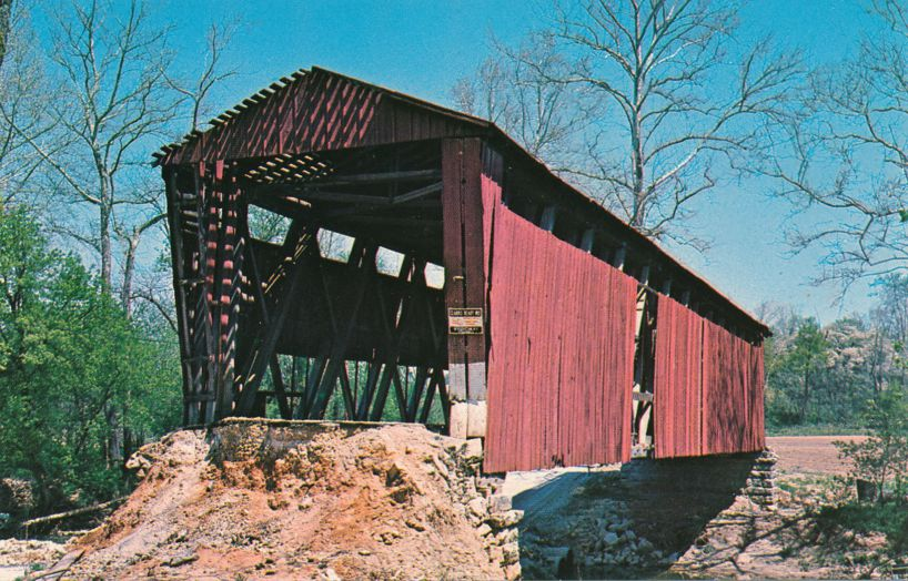 Putnamville Covered Bridge over Deer Creek, Indiana