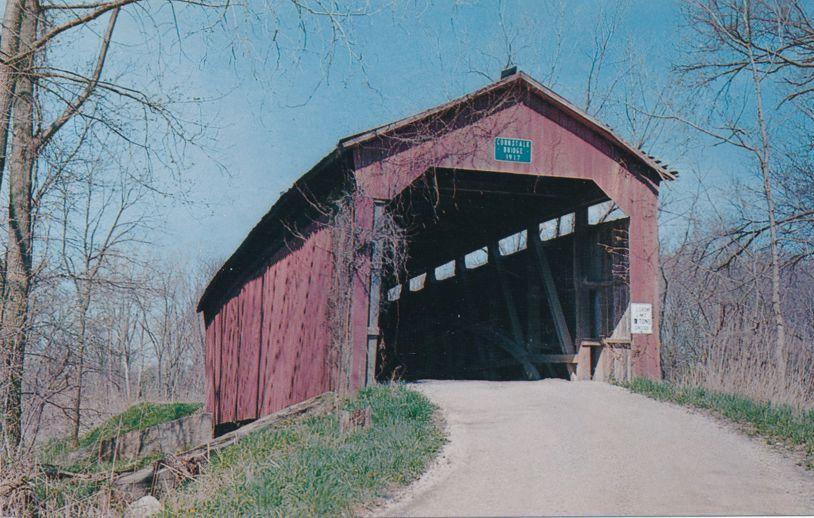 Raccoon, Putnam County, Indiana - Cornstalk Covered Bridge