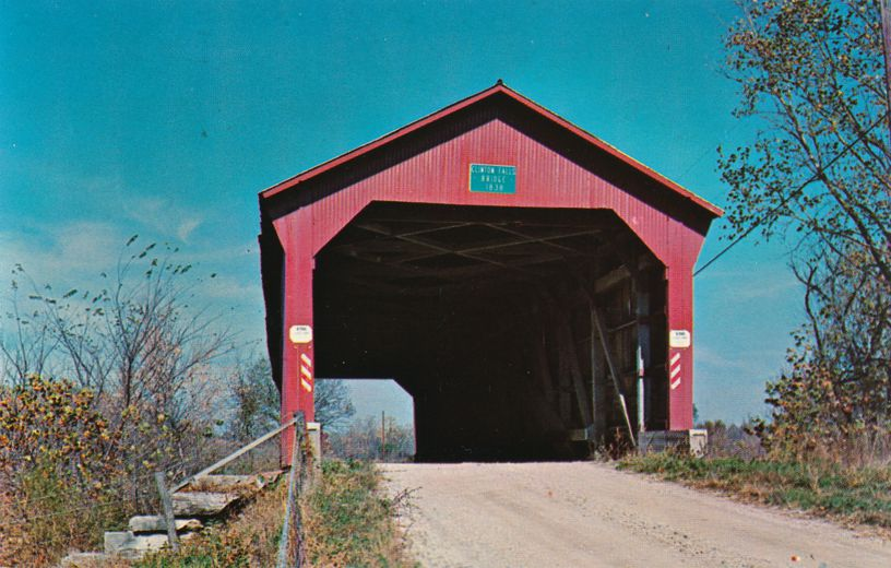 Old Covered Bridge at Raccoon, Indiana - Moved near Clinton Falls