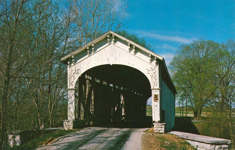 Shelbyville, Indiana - Cedar Ford Covered Bridge