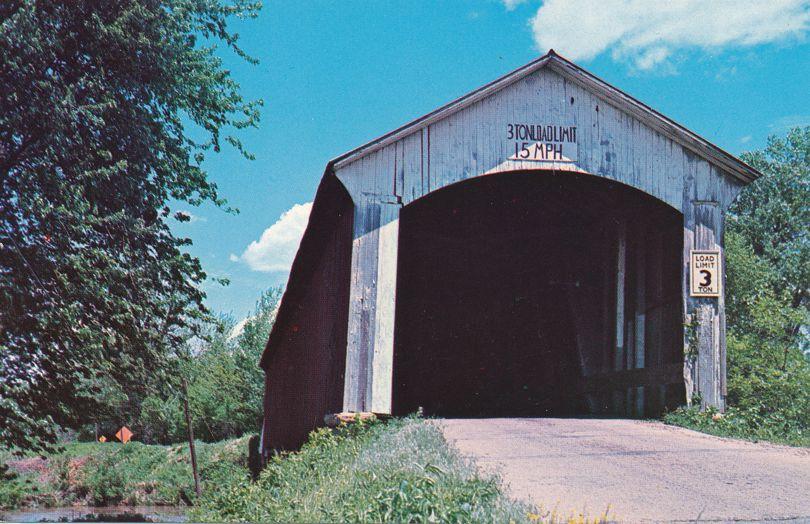 Chunn Ford Covered Bridge over Broullette's Creek - Vermillion County, Indiana