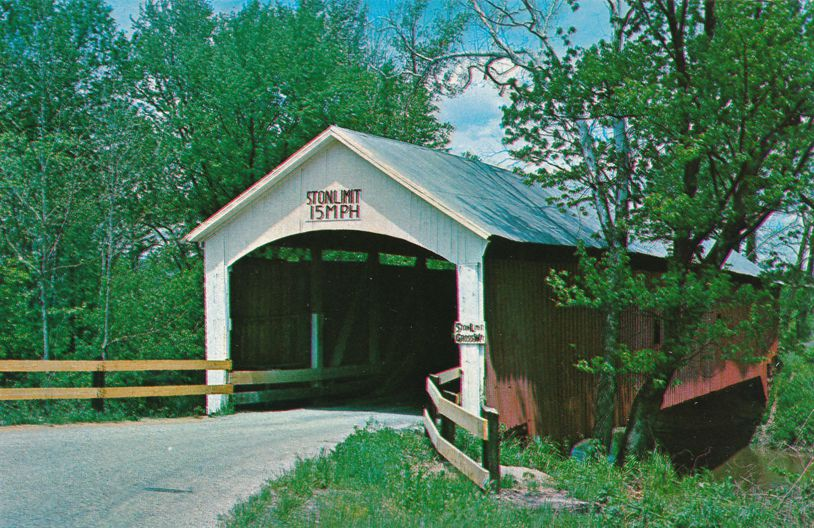 South Hill Covered Bridge near Universal, Vermillion County, Indiana