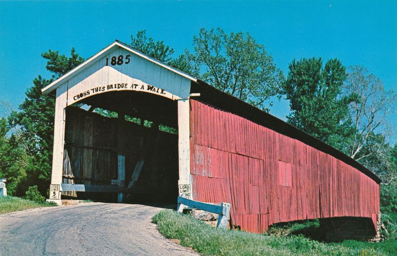 Vermillion County, Indiana - Newport Covered Bridge over Little Vermillion River