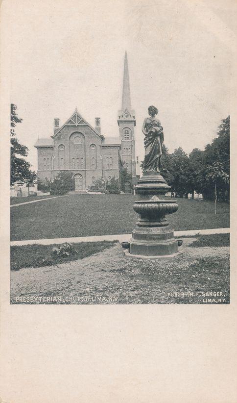 Presbyterian Church - Lima, New York - Sanger Fancy Scroll - Undivided Back