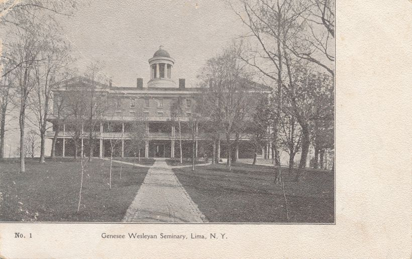 Lima, New York - Genesee Wesleyan Seminary - Undivided Back