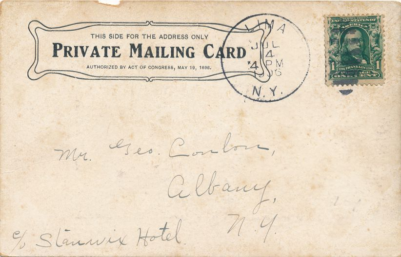 Lima, New York - Genesee Wesleyan Seminary - College Hall - pm 1905 - PMC - Private Mailing Card