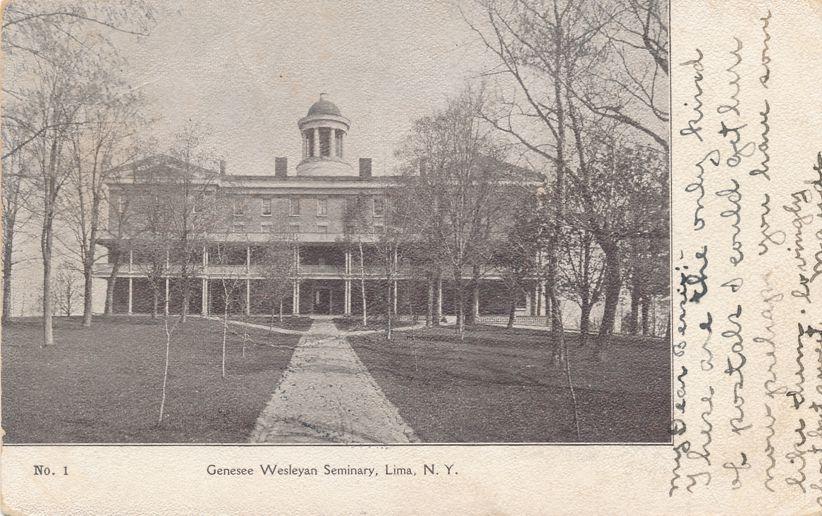 Lima, New York - Main Building - Genesee Wesleyan Seminary - pm 1905 - Undivided Back