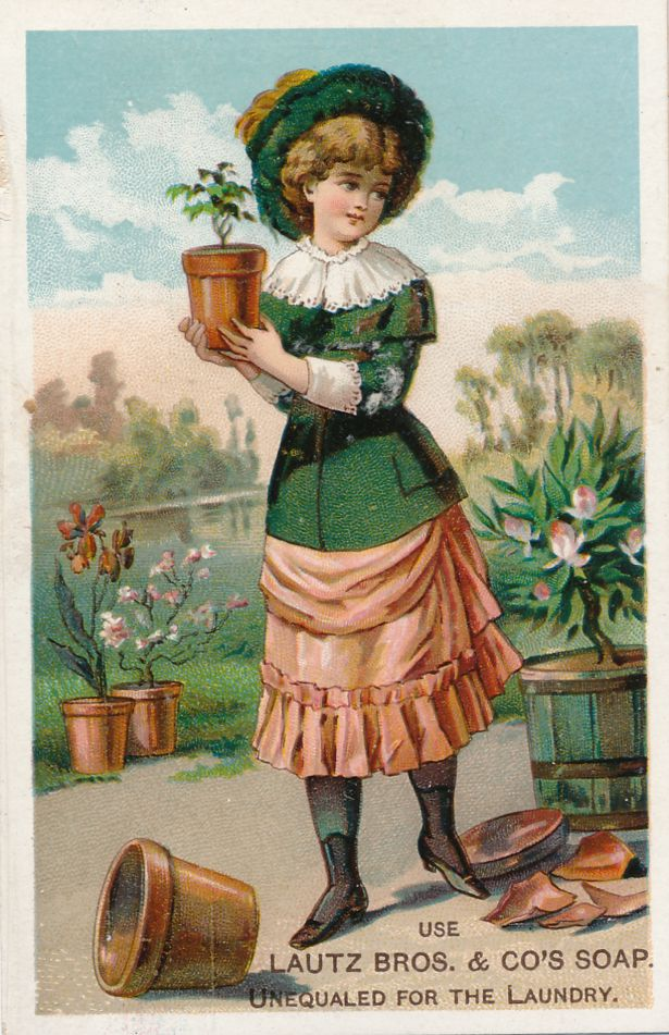 Lima, New York - Victorian Trade Card - Laundry Soap at Beadle Brothers