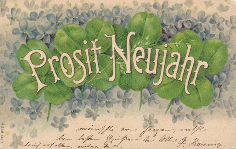 New Years Day Greetings - Prosit Neujahr pm Dornach Switzerland 1902 - pm 1902 - Undivided Back