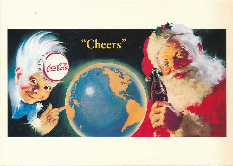 Coca Cola Santa Claus and Sprite Boy - Advertisement - Artist Haddon Sundblom