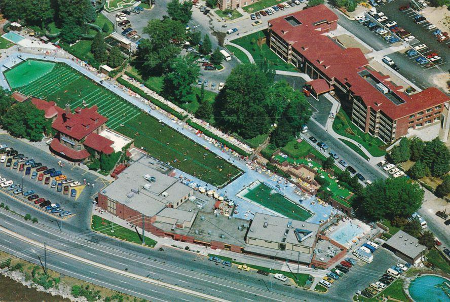 Aerial View of Hot Springs Lodge and Pool - Glenwood Springs, Colorado