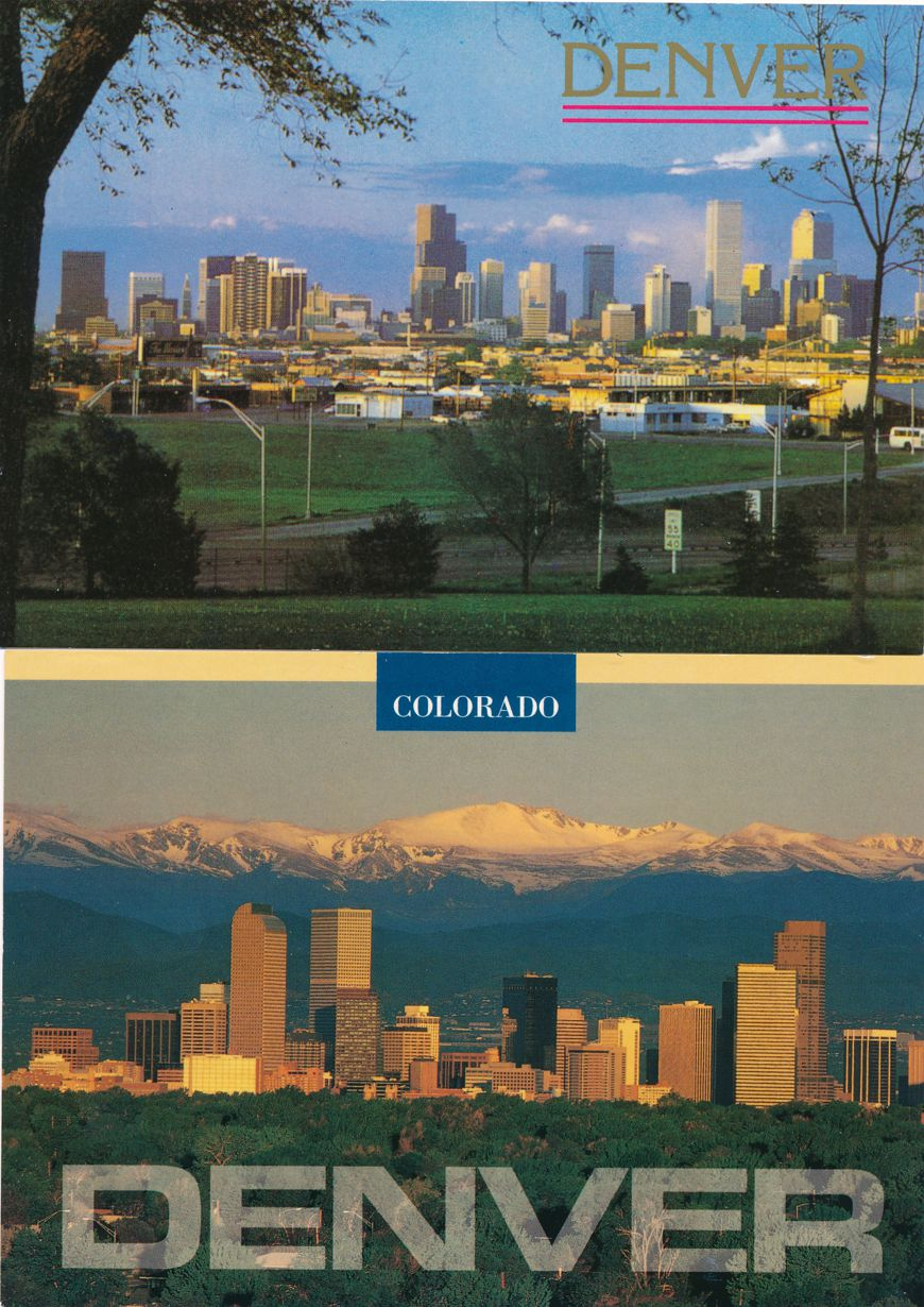 (5 cards) Denver, Colorado - The Mile High City