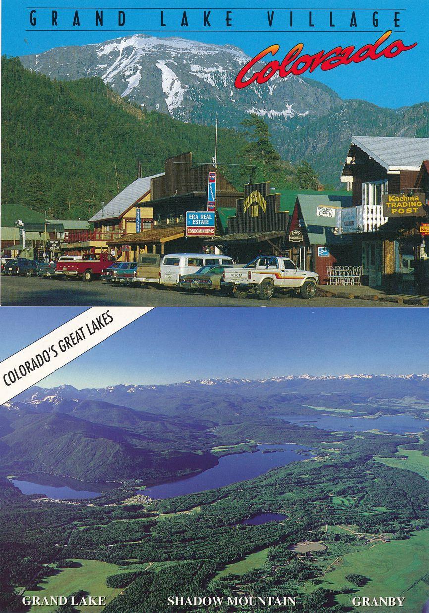 (4 cards) Grand Lake Village, Colorado
