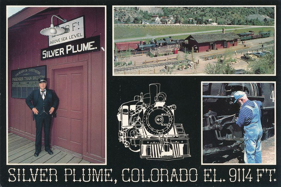 Silver Plume, Colorado - Restored Terminal on Georgetown Loop Railroad