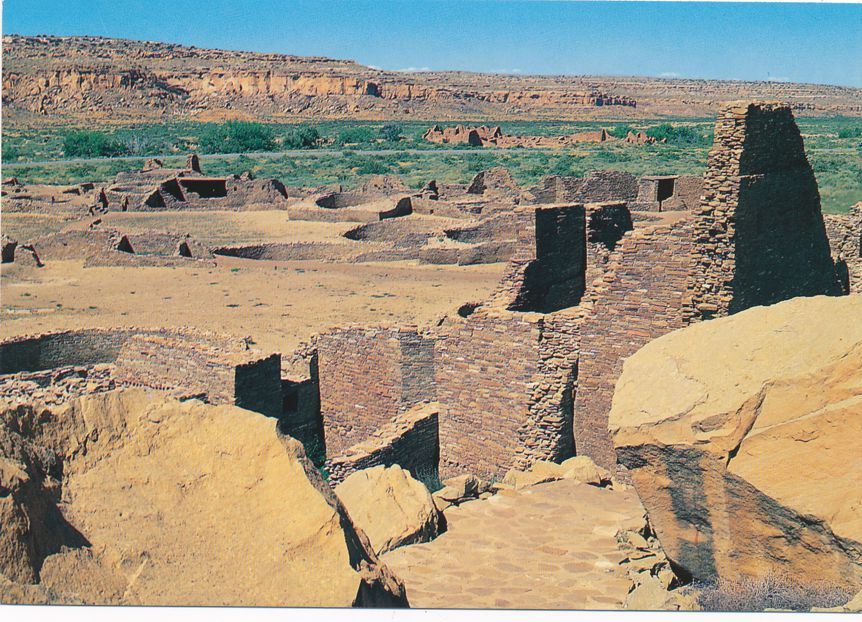 (3 cards) Pueblo Bonito - Chaco Culture National Historical Park, New Mexico