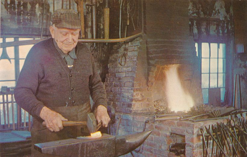 Blacksmith at Working Forge - Shelburne Museum, Vermont