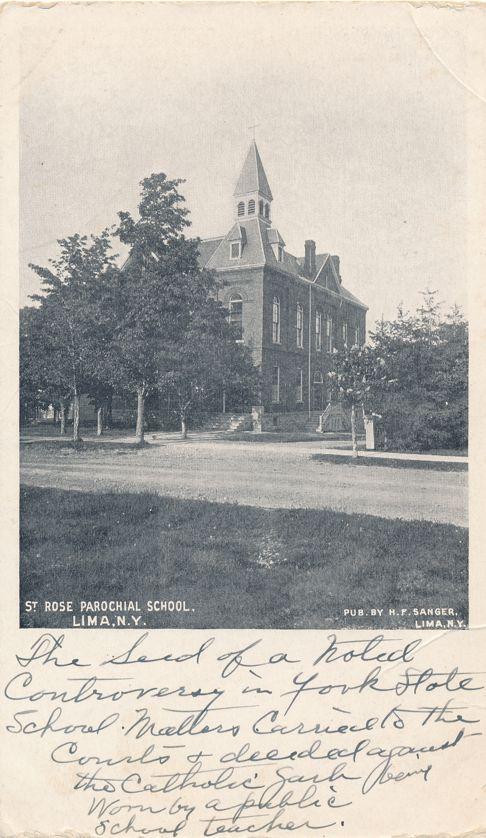 Saint Rose Parochial School - Lima, Livingston County, New York - Undivided Back