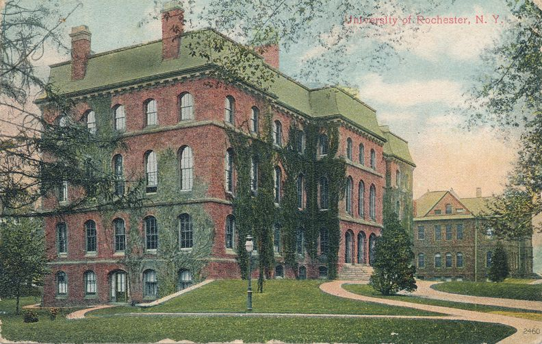 Rochester, New York - Anderson Hall at University of Rochester - Divided Back