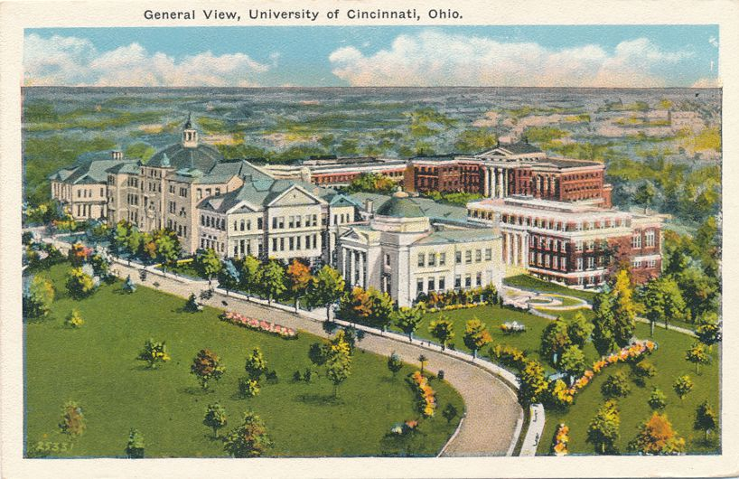 University of Cincinnati, Ohio - General View - White Border