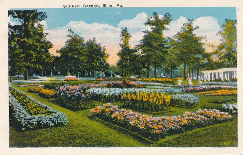 Erie, Pennsylvania - Sunken Garden - White Border