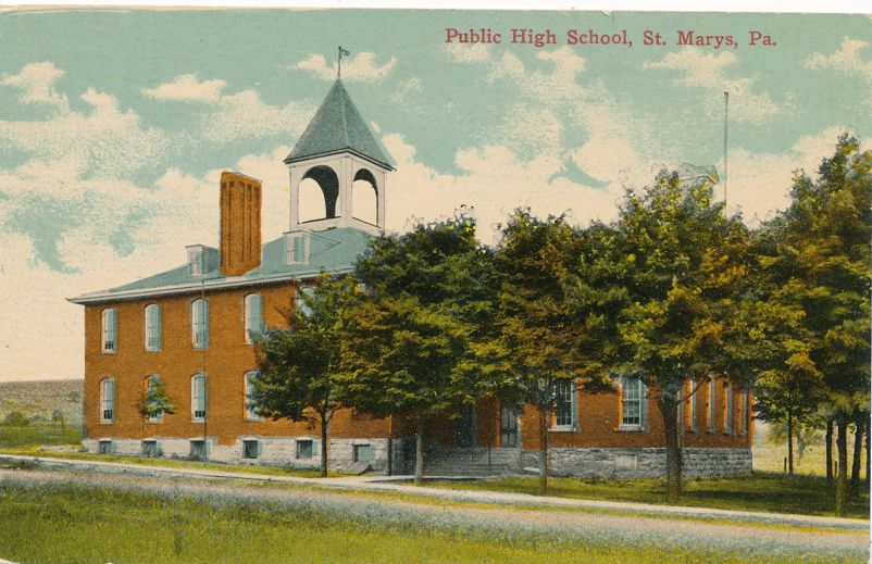 St Marys, Pennsylvania - Public High School - Divided Back
