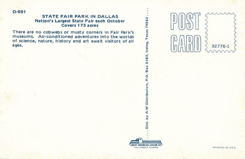 Dallas, Texas - State Fair Park - Science, Nature, History, Art