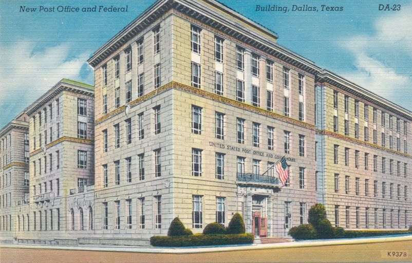 Dallas, Texas - New Post Office and Federal Building - Linen Card