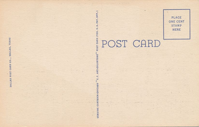 Dallas, Texas - Baylor University Hospital - Linen Card