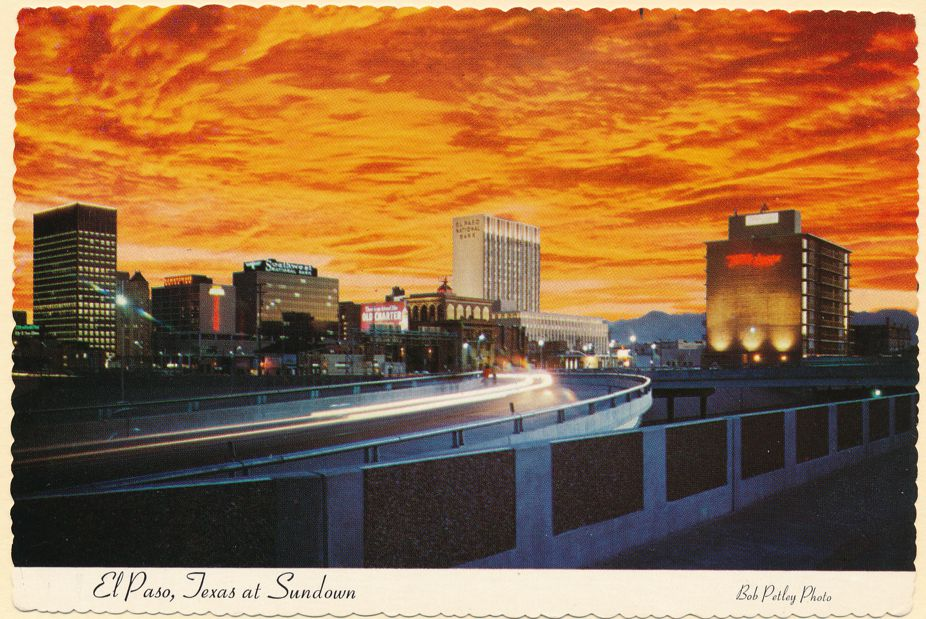 Sunset over El Paso, Texas